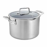 ZWILLING Clad CFX 8-qt Stainless Steel Ceramic Nonstick Stock Pot - 8-qt