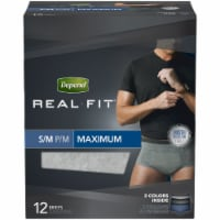 Depend Real Fit S/M Maximum Absorbency Incontinence Briefs for Men