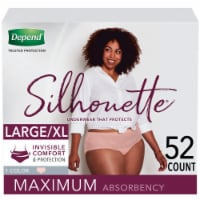 Depend Silhouette Underwear for Women L/XL - Pink