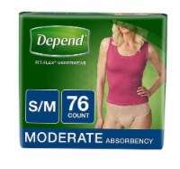 Depend Fit-Flex Moderate Absorbency Small/Medium Underwear for Women