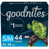 GoodNites S-M Marvel Bedtime Underwear for Boys 44 Count