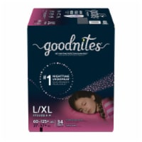 GoodNites L-XL Bedtime Underwear for Girls 34 Count