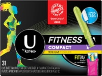 U by Kotex Fitness Regular Unscented Compact Tampons 31 Count