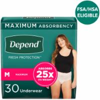 Depend Fit-Flex Medium Maximum Absorbency Women's Incontinence Underwear - 18 ct
