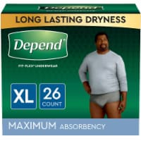 Depend Fit-Flex Size Extra Large Maximum Absorbency Incontinence Underwear for Men