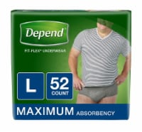 Depend Fit-Flex Mens Maximum Absorbency Incontinence Underwear