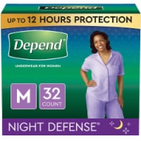 Depend Night Defense Medium Women's Underwear - 32 ct