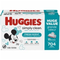 Huggies Simply Clean Fresh Scented Baby Wipes 11 Flip-top Packs
