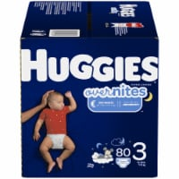 Huggies Overnites Size 3 Baby Diapers 80 Count