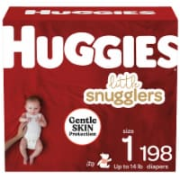 Huggies Little Snugglers Size 1 Baby Diapers 198 Count