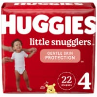 Huggies Little Snugglers Size 4 Baby Diapers - 22 ct