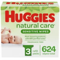 Huggies Natural Care Sensitive Baby Wipes Unscented Refill Packs