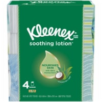 Kleenex Soothing Lotion Facial Tissues Cube Boxes