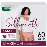 Depend Silhouette Maximum Absorbency Underwear for Women - Pink
