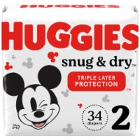 Huggies Snug & Dry Size 2 Jumbo Pack Baby Diapers