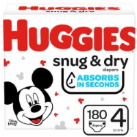 Huggies Snug and Dry Size 4 Baby Diapers 180 Count