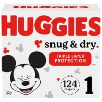 Huggies Snug & Dry Size 1 Diapers 124 Count