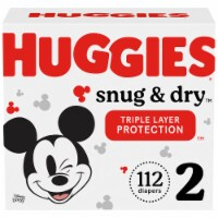 Huggies Snug & Dry Size 2 Baby Diapers 112 Count