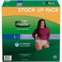 Depend Fit-Flex Maximum Absorbency Large Incontinence Underwear For Women