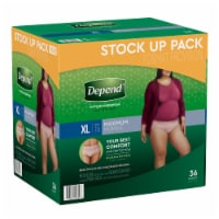 Depend Fit-Flex Maximum Absorbency XL Incontinence Underwear For Women
