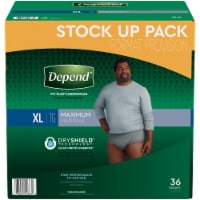 Depend Maximum Absorbency X-Large Incontinence Underwear For Men
