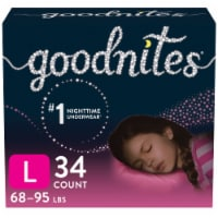 GoodNites Youth Size Large Girl's Nighttime Underwear