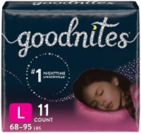 GoodNites Youth Size Large Girls' Nighttime Underwear