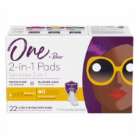 One by Poise 2-in-1 Regular Length Ultra Thin Pads with Wings