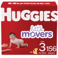Huggies Little Movers Size 3 Diapers - 156 ct