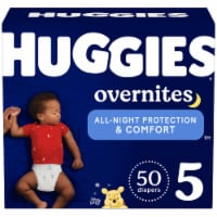 Huggies Overnites Size 5 Baby Diapers - 50 ct