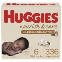 Huggies Nourish & Care Baby Wipes - 6 pk / 56 ct