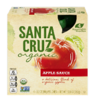 Santa Cruz Organic Apple Sauce Pouches