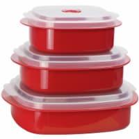 Reston Lloyd Red - Microwave Steamer Set
