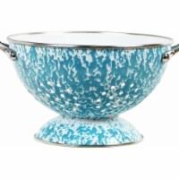 Reston Lloyd 80772 3.qt. Enamel Colander, Turquoise Marble - 1