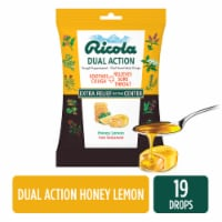 Ricola Dual Action Honey Lemon Cough Suppressant Drops