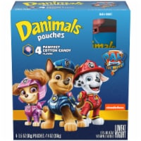 Danimals Squeezables Paw Patrol Cotton Candy Flavor Lowfat Yogurt Pouches 4 Count