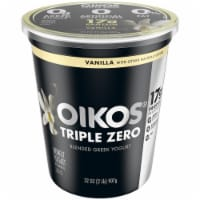 Dannon Oikos Triple Zero Vanilla Blended Greek Yogurt