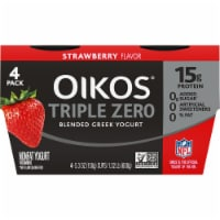 Dannon Oikos Triple Zero Strawberry Blended Greek Yogurt 4 Count