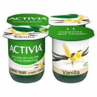 Dannon Activia Vanilla Probiotic Yogurt 4 Count