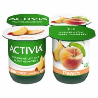 Activia Peach Lowfat Probiotic Yogurt