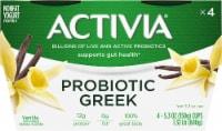 Activia Vanilla Probiotic Greek Nonfat Yogurt