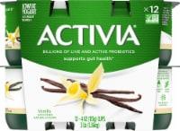 Dannon Activia Vanilla Probiotic Lowfat Yogurt 12 Count