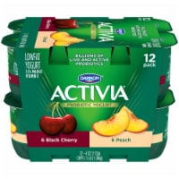 Dannon Activia Peach And Black Cherry Yogurt
