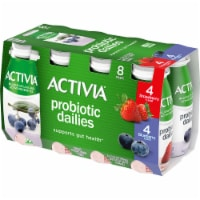 Dannon Activia Probiotic Dailies Strawberry & Blueberry Lowfat Yogurt Drink