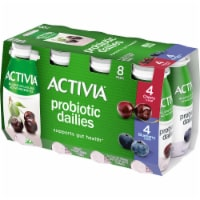 Activia Probiotic Dailies Cherry & Blueberry Lowfat Yogurt Drinks
