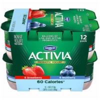 Dannon Activia Light Blueberry & Strawberry Yogurt 12 Count