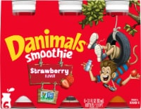 Danimals Strawberry Explosion Flavor Smoothie 6 Count