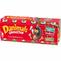 Dannon Danimals Strikin' Strawberry Kiwi & Strawberry Explosion Yogurt Smoothie
