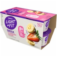 Dannon Light & Fit Original Strawberry Banana Nonfat Greek Yogurt 4 Count