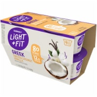 Dannon Light & Fit Toasted Coconut Vanilla Greek Nonfat Yogurt 4 Count
